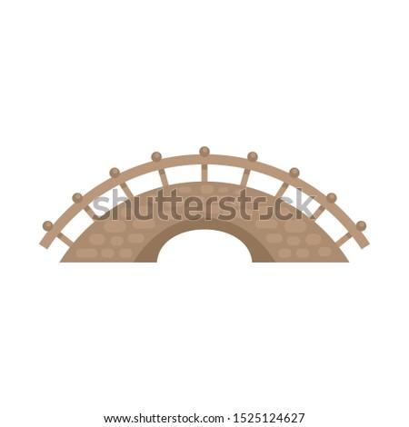 bridge building icon flat