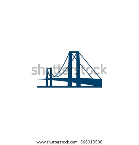 bridge building logo template