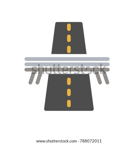 bridge highway illustration