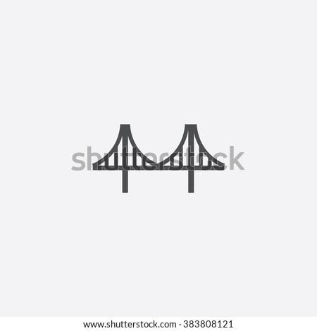 bridge icon bridge icon vector