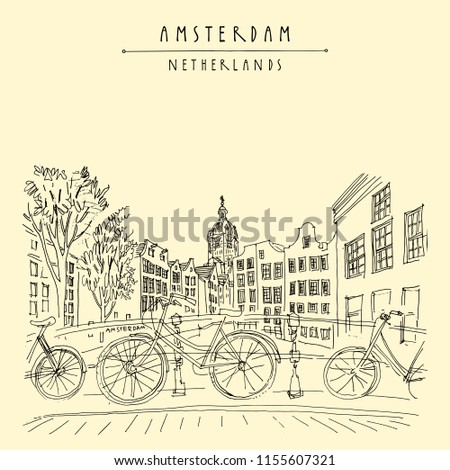 bridge in amsterdam  holland