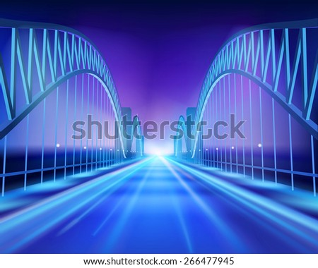 bridge in the night vector