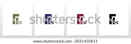 Bridge Inside Letter Logo Design L Photo stock ©