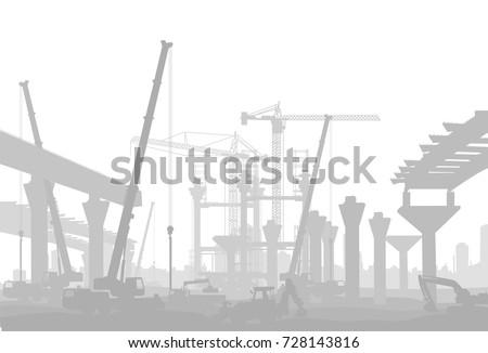 bridge under construction in