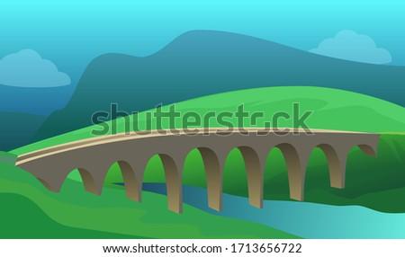bridge under river in beautiful