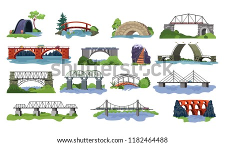 bridge vector bridged urban