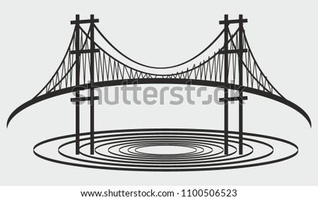 bridge wave graphic design