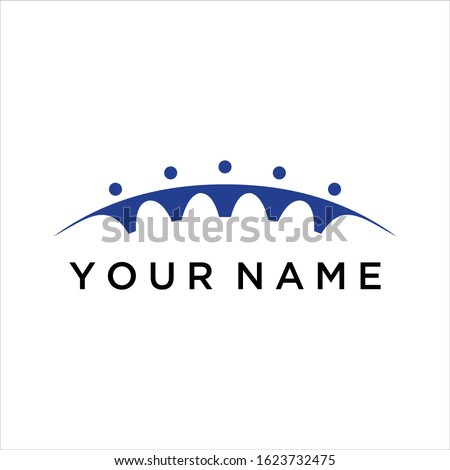bridges and people vector logo