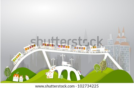 "Bridges and train ""White city"" collection"