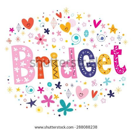 bridget girls name decorative
