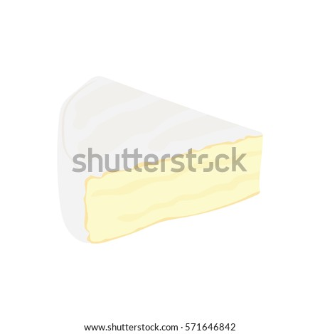 Brie cheese flat icon. vector illustration, on a white background