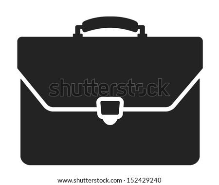 briefcase black and white icon