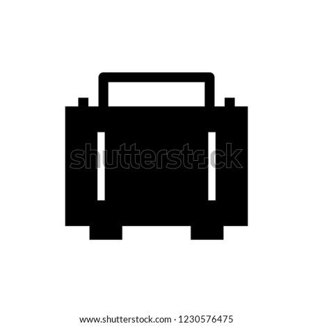 Briefcase Glyph Black Icon