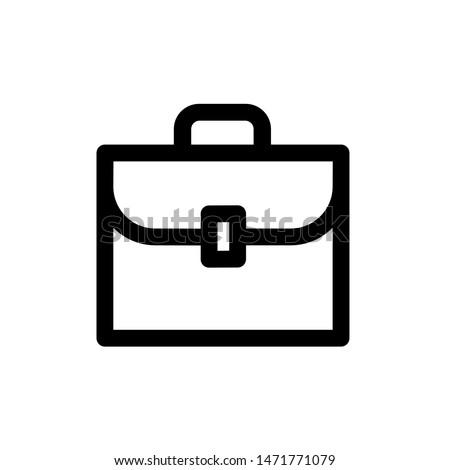 Briefcase icon,vector illustration. Flat design style. vector briefcase icon illustration isolated on White background, briefcase icon Eps10. briefcase icons graphic design vector symbols.