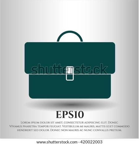 briefcase icon vector symbol flat eps jpg app web concept