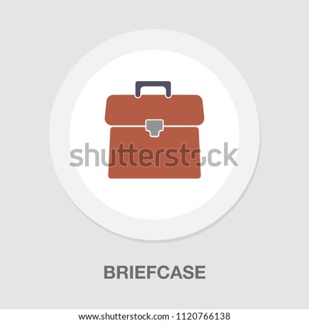 Briefcase illustration - vector suitcase, office icon