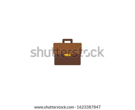 Briefcase vector flat icon. Isolated leather business case, suitcase emoji illustration  ストックフォト ©