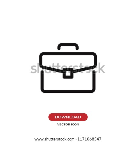 Briefcase vector icon. Bag,portfolio symbol. Flat vector sign isolated on white background. Simple vector illustration for graphic and web design.
