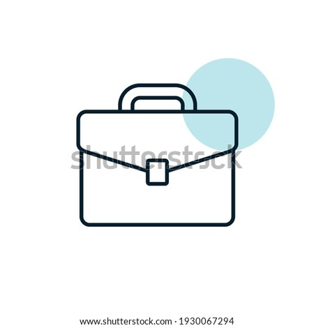 Briefcase vector icon. Business sign. Graph symbol for your web site design, logo, app, UI. Vector illustration, EPS10. ストックフォト ©