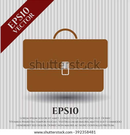 Briefcase vector icon or symbol