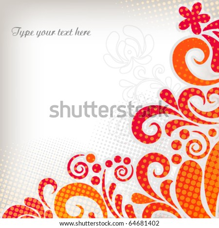 Bright abstract background - stock vector