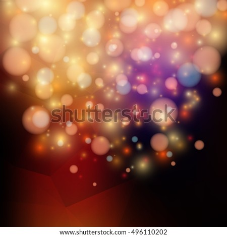 Bright abstract background in vector, triangular geometric style #496110202