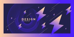 Bright abstract background with a dynamic waves, in a minimalist style. Vector illustration