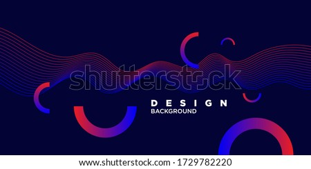 Bright abstract background with a dynamic waves of minimalist style. Vector illustration for website design Foto d'archivio ©
