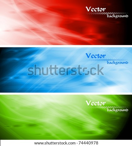 Bright abstract banners collection. Vector illustration eps 10