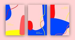 Bright abstract banners. Wallpaper for stories and social media. Modern poster template with empty space for text. Minimalistic cover design.
