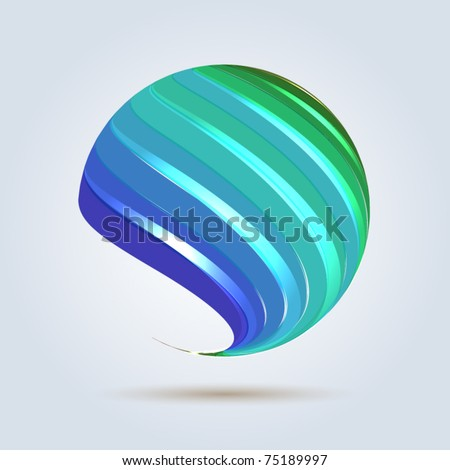 Bright abstract blue universe - stock vector