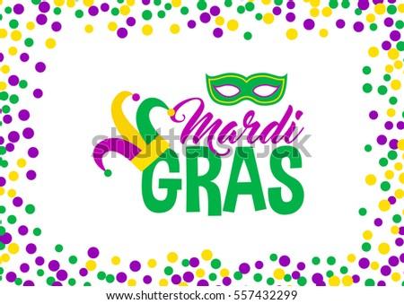 bright abstract dot mardi gras