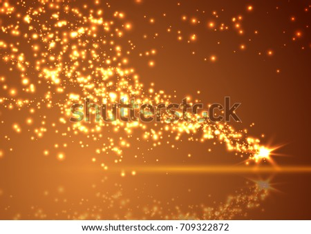 bright abstract falling star