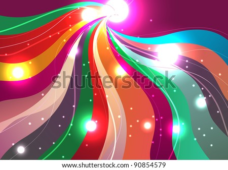 Bright abstract lighting vector background