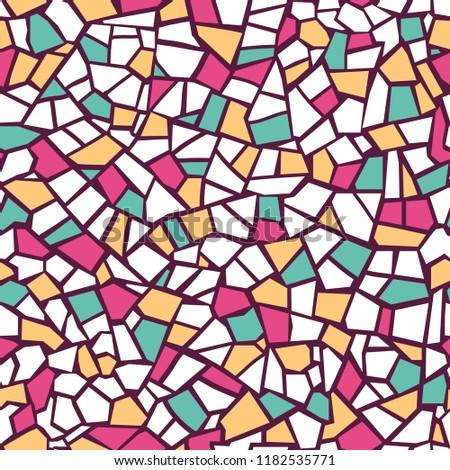 bright abstract mosaic seamless