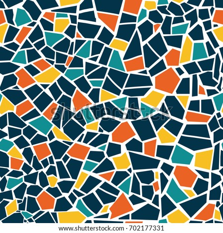 bright abstract mosaic seamless