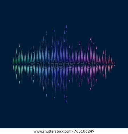 bright abstract music equalizer