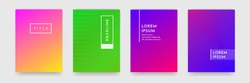Bright abstract pattern background with line texture for business brochure cover design. Gradient Pink, orange, purple, blue and green vector banner poster template