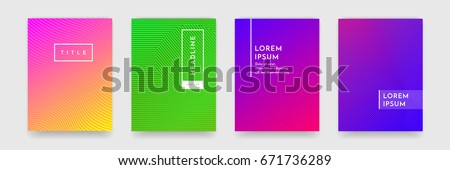 Bright abstract pattern background with line texture for business brochure cover design. Gradient Pink, orange, purple, blue and green vector banner poster template #671736289