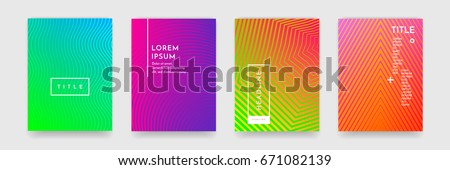 Bright abstract pattern background with line texture for business brochure cover design. Purple, red, yellow and green vector banner poster template.