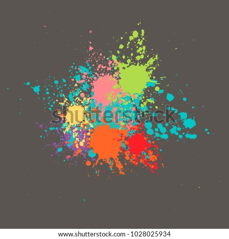 bright abstract splashes on a