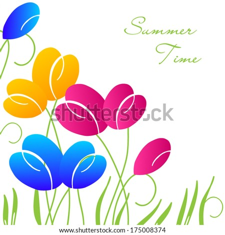 bright abstract spring flowers