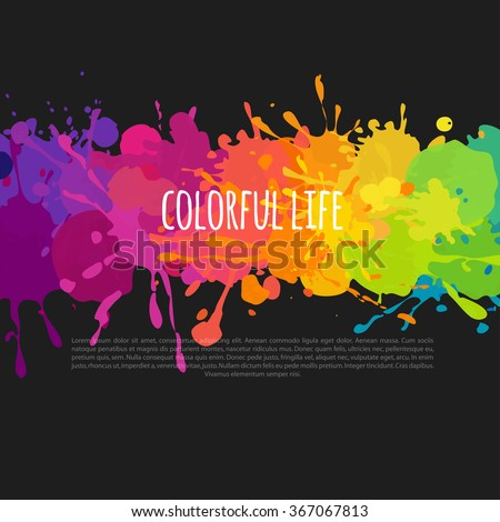 bright and colorful banner with