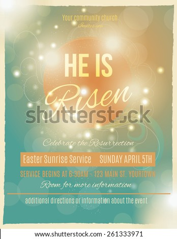 bright and shining he is risen