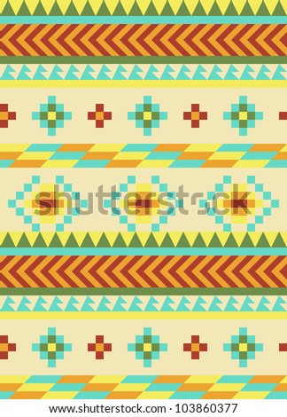 Bright aztec pattern