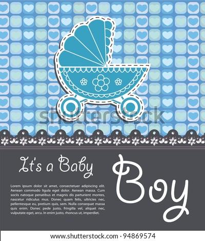 Bright baby boy card