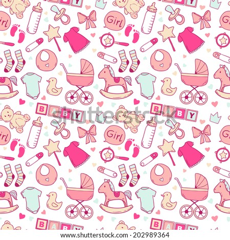 stock-vector-bright-baby-girl-seamless-pattern-with-cute-newborn-elements