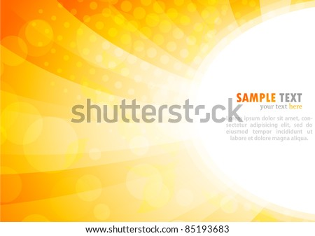 Bright background in orange color