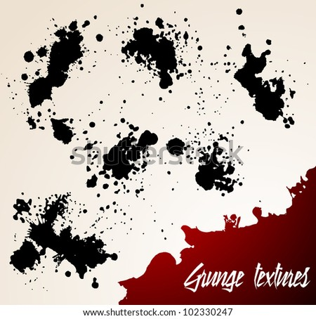 Bright background with black and red grunge elements