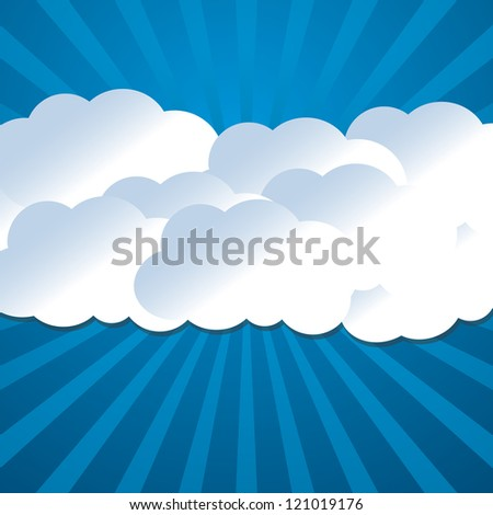 bright background with clouds